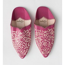 Engraved Slippers Fuchsia