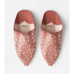 Engraved Slippers Brown