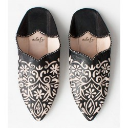 Engraved Slippers Black