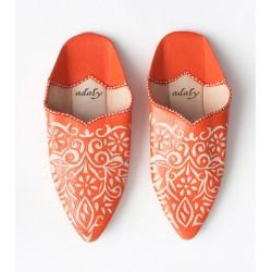 Engraved Slippers Orange