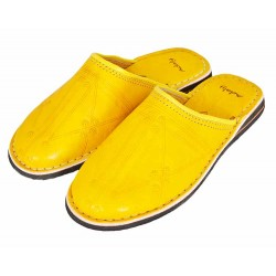 Moroccan slippers dambira yellow