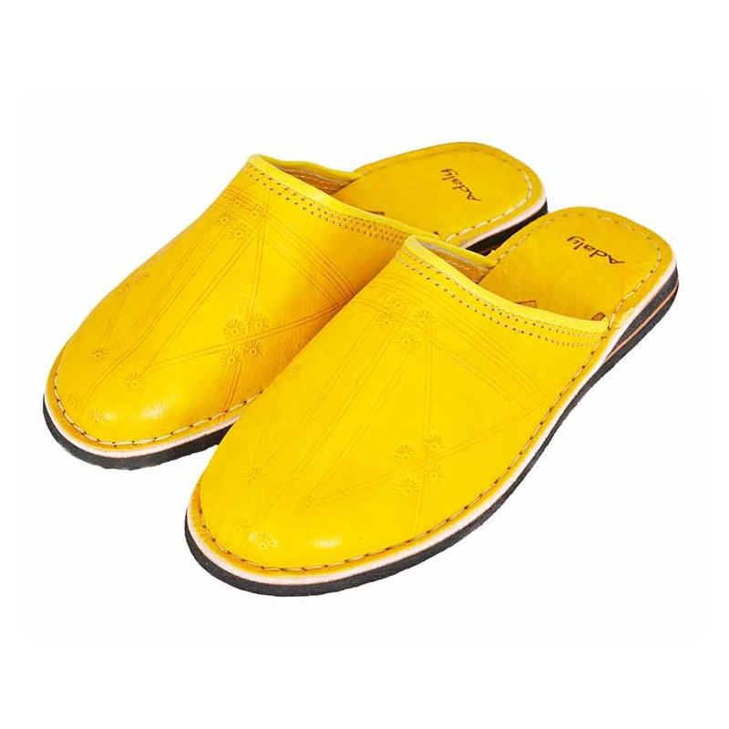babouche berbère jaune
