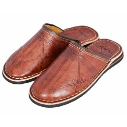 moroccan slippers broiwn
