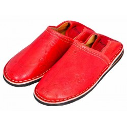 Berber red slippers