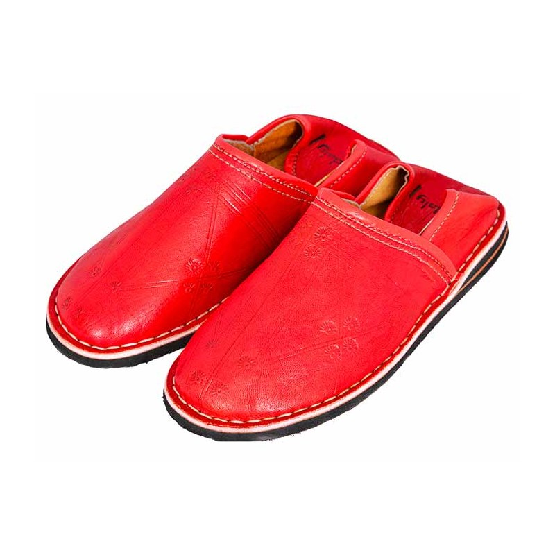 Berber red slippers