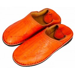 moroccan berber slippers orange