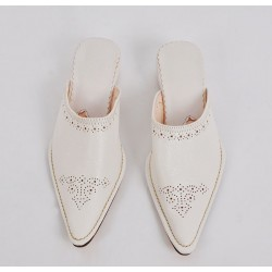 Woman Slippers Yakout White
