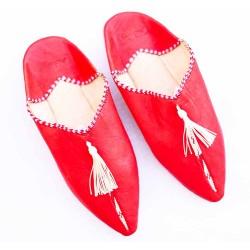 Red Pompom Slipper