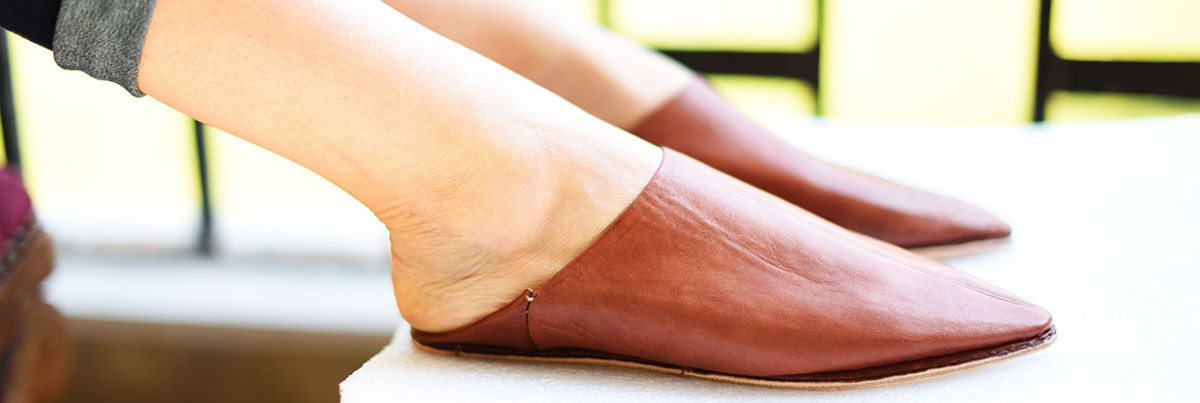Handmade Leather slippers for women